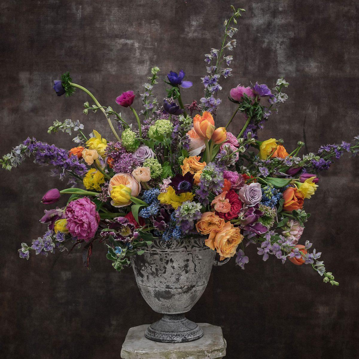 Pocal aranjament flori nunta eveniment