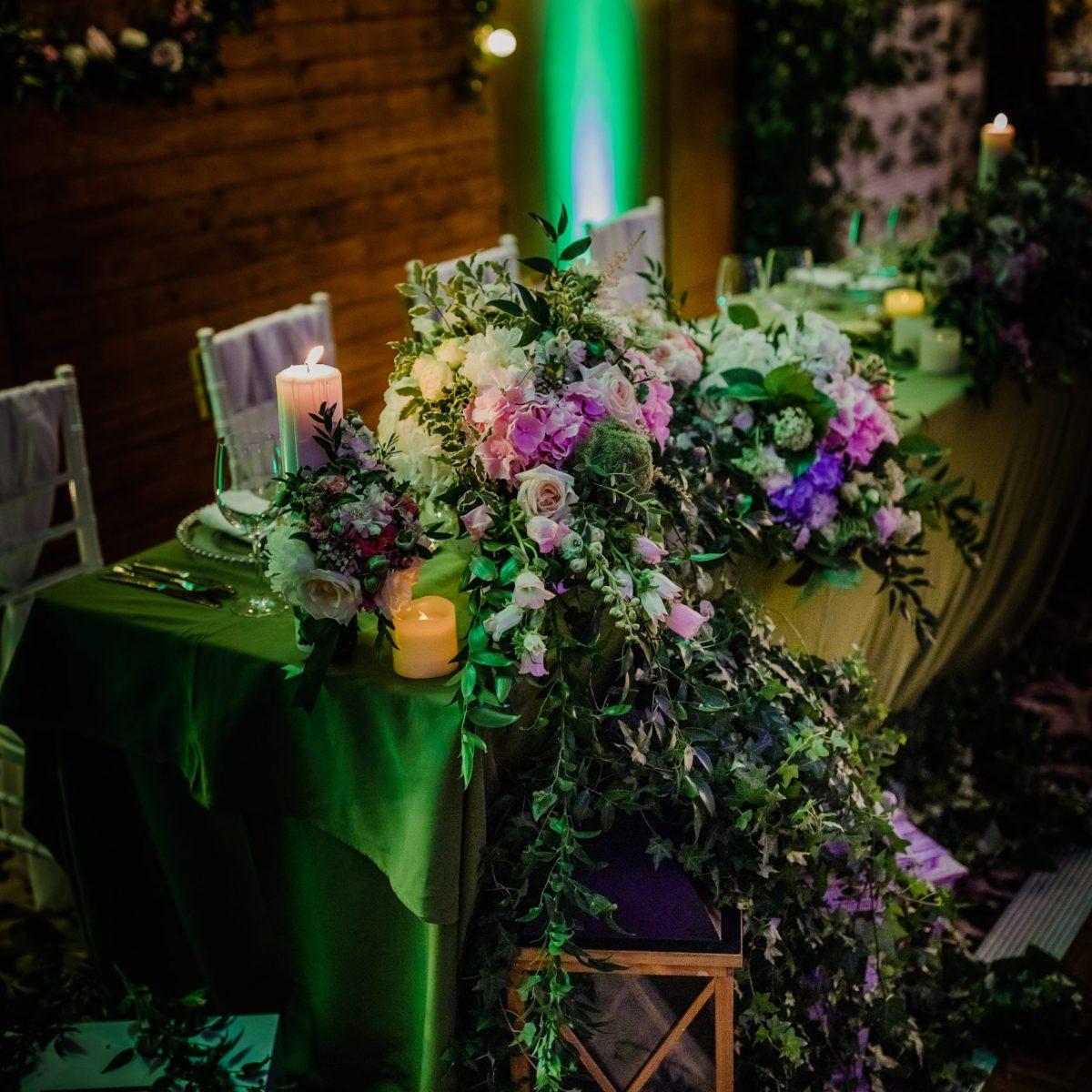 decor flori prezidiu nunta dadoo