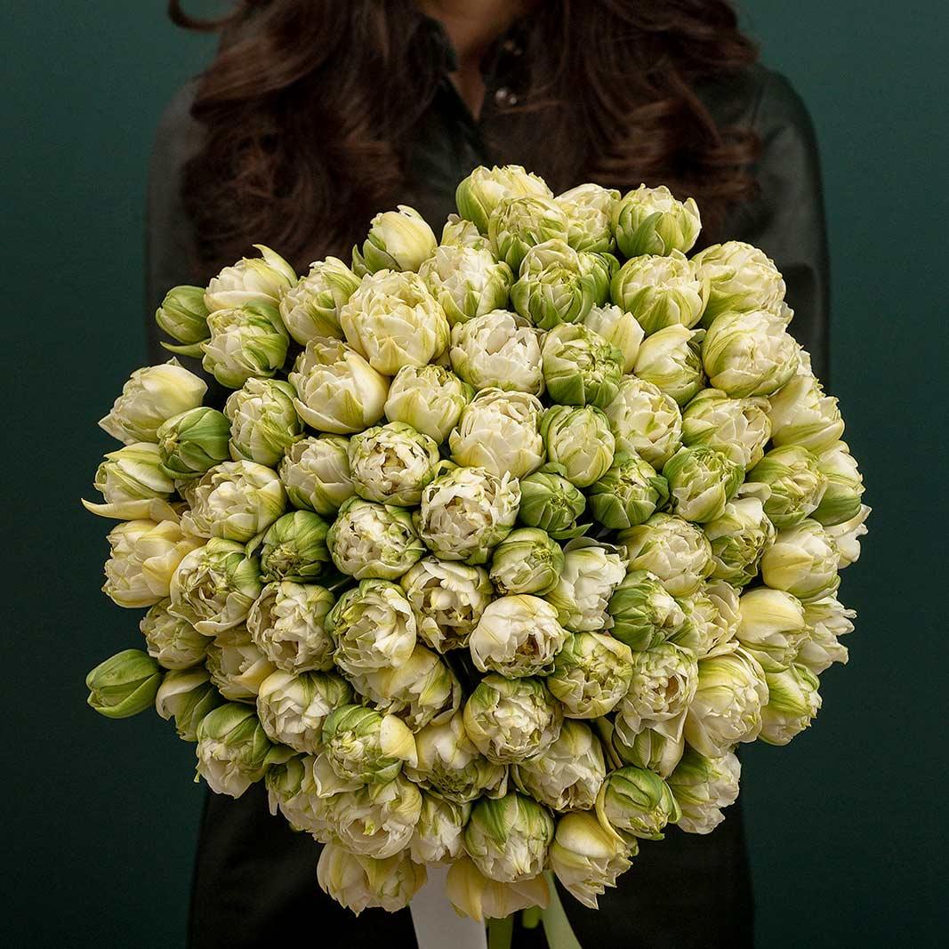 buchet flori comanda online Buchet Lalele duble maison dadoo