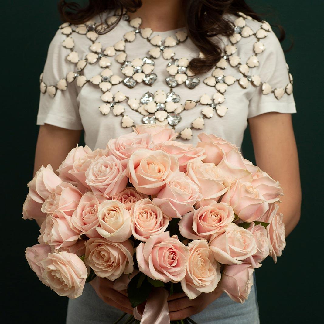 buchet flori comanda online Buchet Trandafiri roz pal maison dado