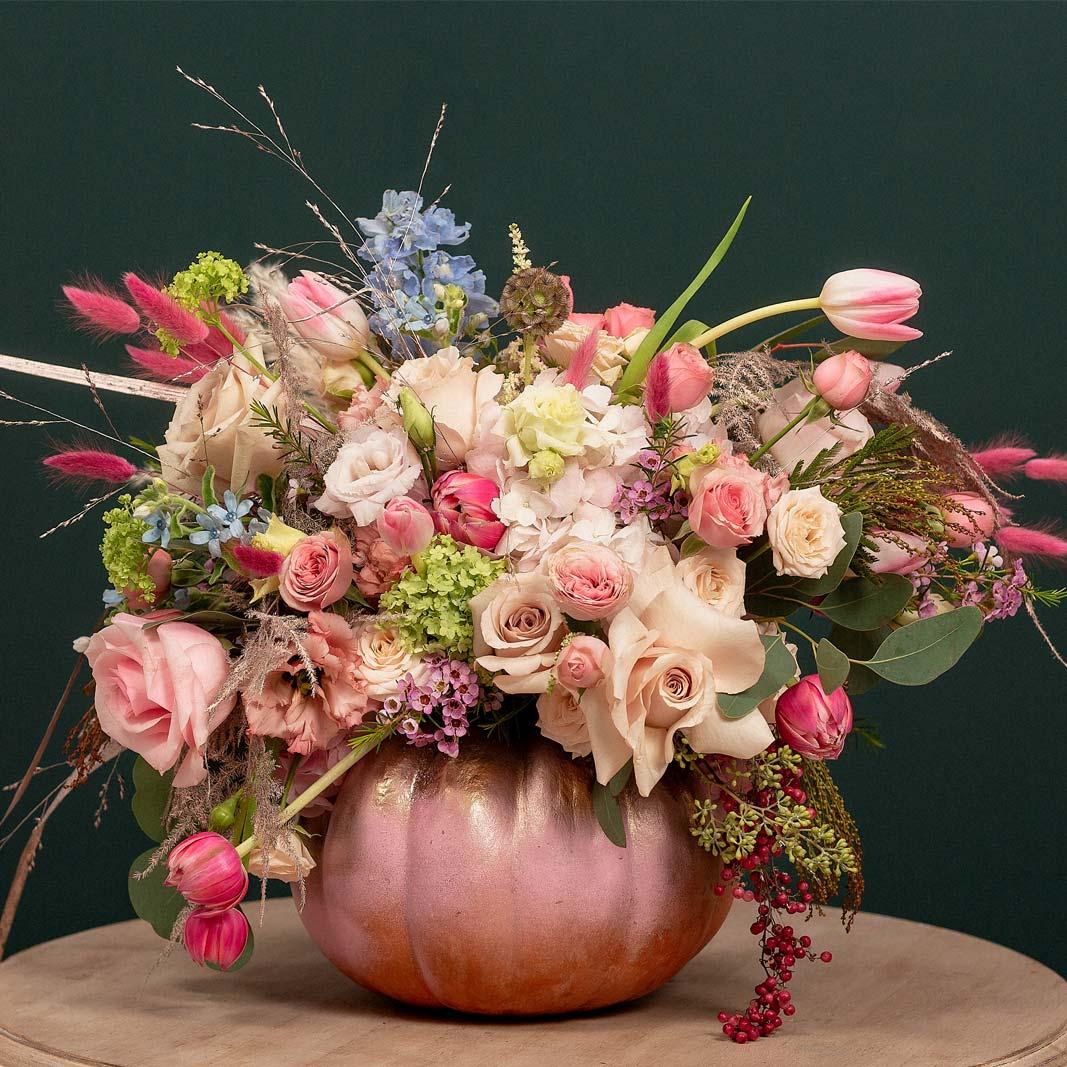 Aranjament decorativ Dovleac Roz | Pink Pumpkin